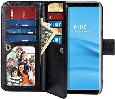 PASONOMI Note 8 Wallet Case PU Leather Wallet with Detachable SlimCase