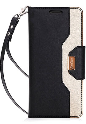 ProCase Samsung Galaxy Note 8 Wallet Case with Card Slots and &Folding Stand