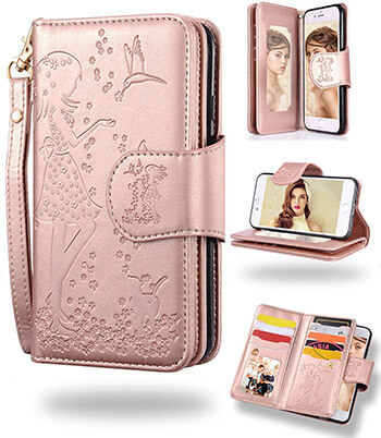 FLYEE 9 Card Slot PU Leather Galaxy Note 8 Wallet Case