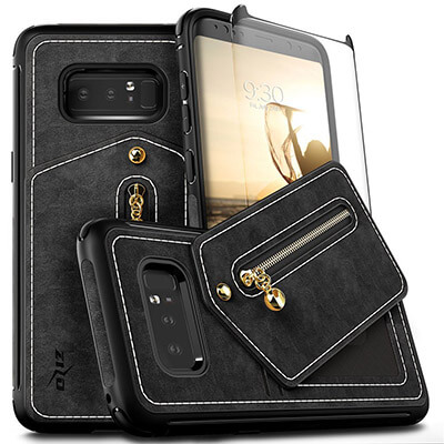 Zizo Nebula Samsung Galaxy Note 8 Case with Curved Screen Protector