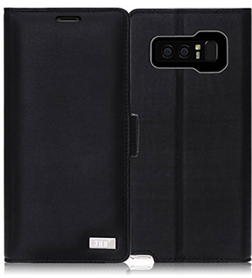 FYY Galaxy Note 8 Case, Genuine Leather Wallet