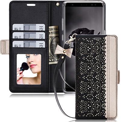 WWW Samsung Galaxy Note 8 Case PU Leather Case Kickstand Flip Case