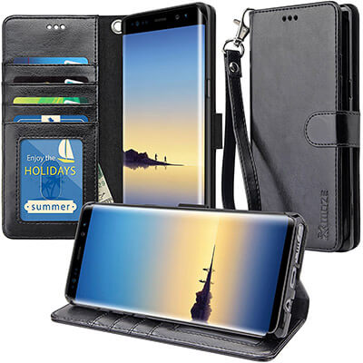 K-MOZE Galaxy Note 8 Wallet Case, PU Leather Flip Case