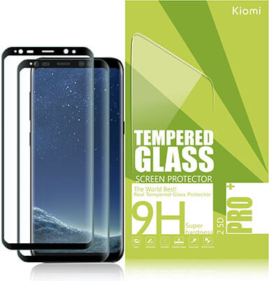 Kiomi 2-Pack Black Galaxy S8 Screen Protector