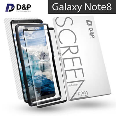 D&P 3D High Transparency 9H Tempered Glass Screen Protector with Align Kit