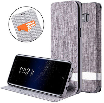 GCase Premium Nylon Canvas Fold Wallet Case Galaxy Note 8 Case