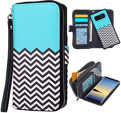 E LV Folio Wallet Purse Protective Magnetic-Closer Case Cover for Samsung Galaxy Note 8