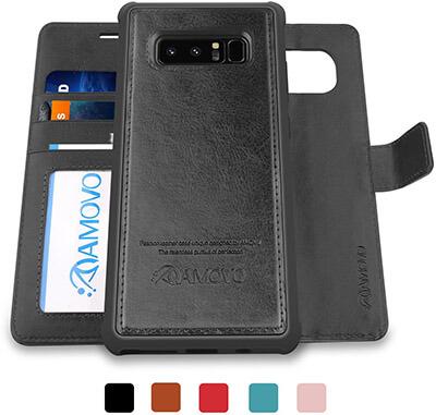 AMOVO Galaxy 2 in 1 Note 8 Wallet Case, Samsung Galaxy Note