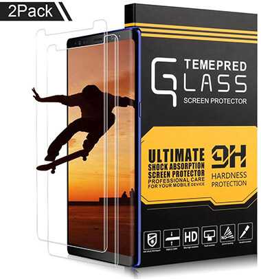 XUZOU Samsung Galaxy Note 8 Full Coverage HD Clear Film Tempered Glass