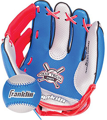 Franklin Sports AirTech Foam Baseball Glove + Ball Set