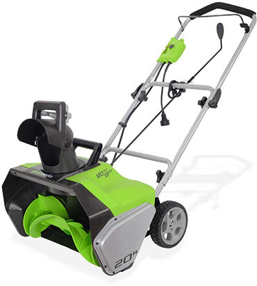 GreenWorks 2600502 20 Inches Corded Snow Thrower, 13 Amp