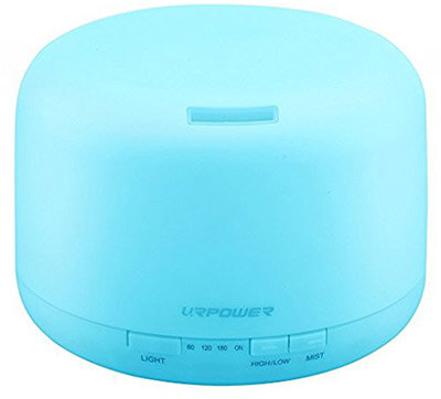 URPOWER 500ml Essential Oil Diffuser Humidifier, 4 Timer Settings Waterless Auto Shut-off