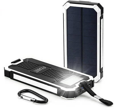FKANT Solar Charger 15000mAh Portable Dual USB Solar Battery Charger and External Battery