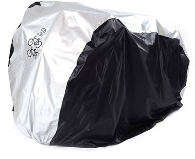 SAVFY 2 Bikes Cover, Heavy Duty Outdoor Waterproof Bicycle Cover, 180T
