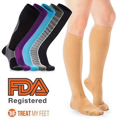 Treat MY Feet compression stockings for men and women