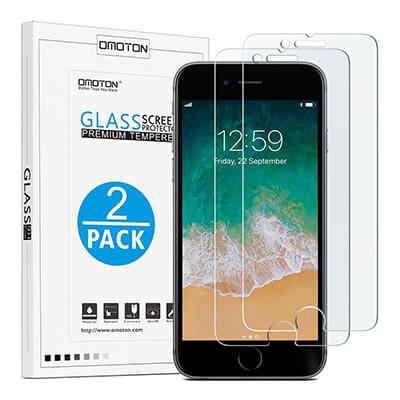 OMOTON iPhone8 Plus 9H Hardness HD Tempered Glass Screen Protector