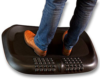 Ergocomfy Non-Flat, Anti Fatigue Standing Desk Mat, with Comfort Massage Sections Calculated Terrain