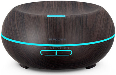 URPOWER Ultrasonic Cool Mist Essential Oil Diffuser, Wood Grain