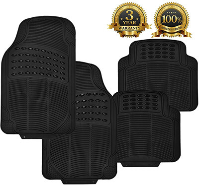 Super Accessories Auto Rubber Car Mats
