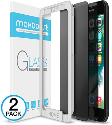 Maxboost iPhone 8 Plus Anti-Spy Tempered Glass Screen Protector