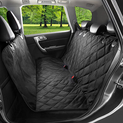 WENFENG Waterproof & Scratch Proof, Hammock Convertible Pet Seat Cover