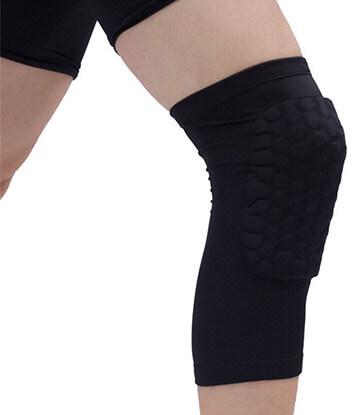 Leegem Youth Black Elite Basketball Pro Unisex Knee pad Support Sleeve