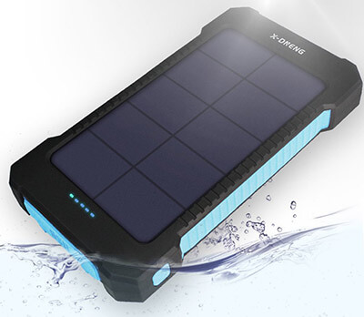 X-DNENG 10000mAh Portable Solar Power Bank High Efficiency Sunpower Solar Charger