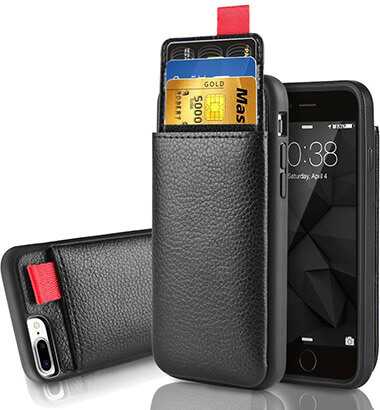 LAMEEKU Wallet Case for iPhone 8 Plus