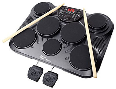 Pyle-Pro PTED01 Electronic Table Digital Drum Kit Top with 7 Pad Digital Drum Kit