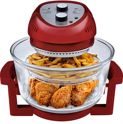 Big Boss Oil-less Air Fryer, 16 Quart, 1300W