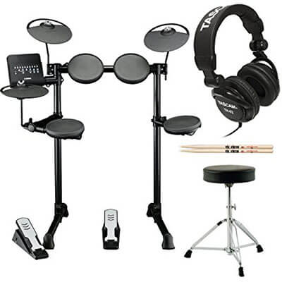 Yamaha DTX400K Customizable Electronic Drum Set with Stereo Headphones