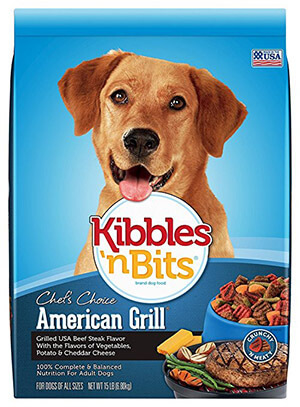 Kibbles 'n Bits American Grill Beef Steak Flavor Dry Dog Food