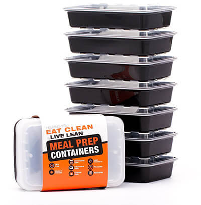 Evolutionize BPA-Free Reusable Microwavable Meal Prep Containers with lids