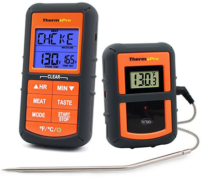 ThermoPro TP07 Wireless Digital Cooking Food Meat Thermometer, 300 feet range