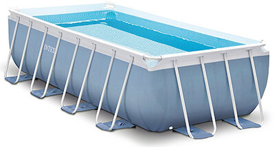Intex Rectangular Prism Frame Pool Set