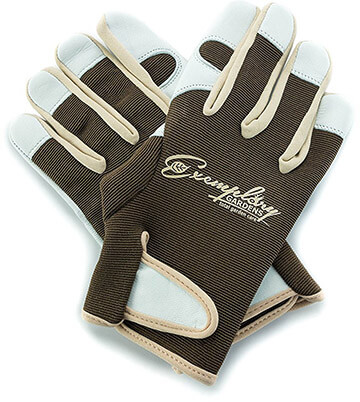 Exemplary Gardens Leather Gardening Gloves