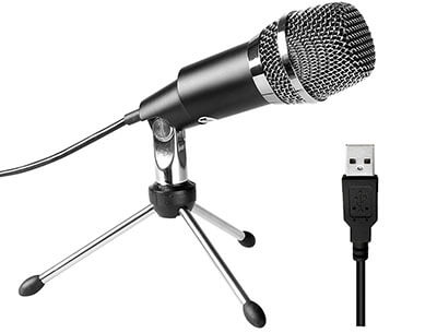 Fifine Plug &Play Home Studio USB Microphone for Mac & PC