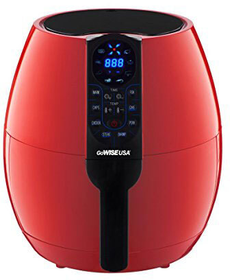 GoWISE USA Programmable Air Fryer, 8 Cook Presets, 3.7-Quart