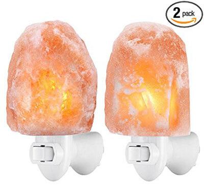 AMIR Natural Himalayan Salt Rock Lamp, Hand Carved Salt Crystal Night Light Wall Light
