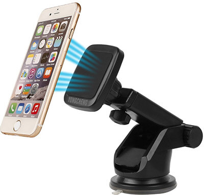 Yongcheng Scalable Long Arm Universal Smart Phone Dashboard & Windshield Magnetic Car Phone Holder