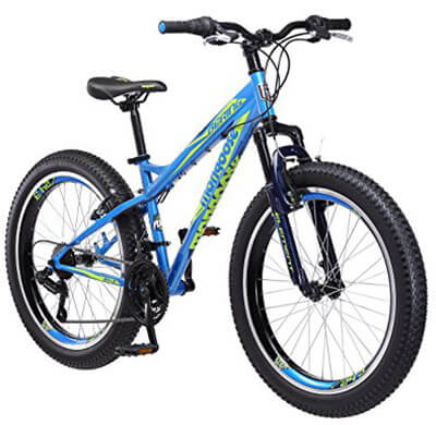 Mongoose Boys Bering 3-Inch Fat Tire Bicycle 24-Inch Wheel
