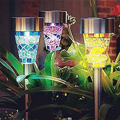 SurLight Christmas Solar Lights for Garden Path, Christmas Halloween Decorations
