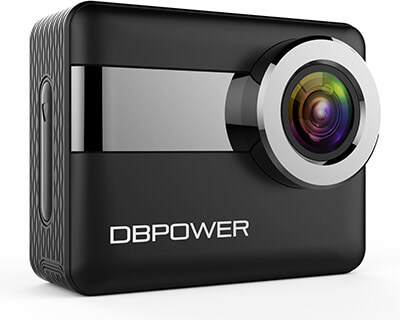 DBPOWER N6 Action Camera, Touchscreen, 4K and 170 Degrees Wide View