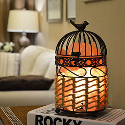 Maymii.Home 9.6-inch Himalayan Salt Crystal Table Desk Lamp Light Lights
