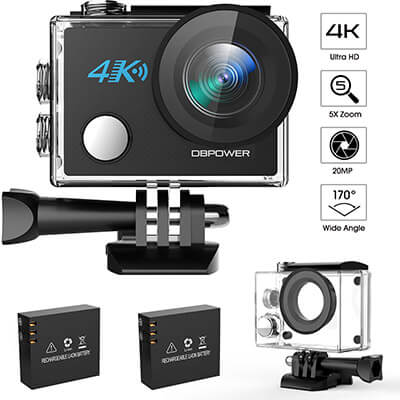 DBPOWER N5 4K Action Camera, HD action cam 20MP Sony Sensor Sports Camera