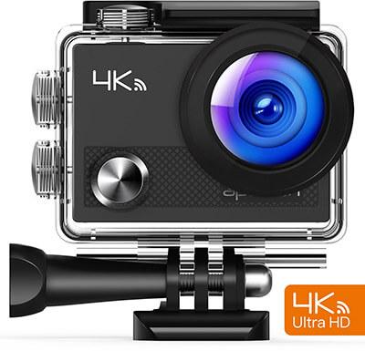 APEMAN 4K Wi-Fi Waterproof Camera, Ultra Full HD Sports Cam