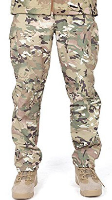 FREE SOLDIER Mens Waterproof SoftShell Pants Camouflage Military Pants
