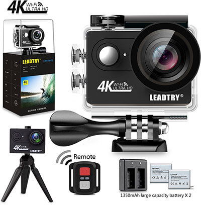LEADTRY HP7R 4K HD Action Underwater 100Ft Waterproof Sports Video Camcorder