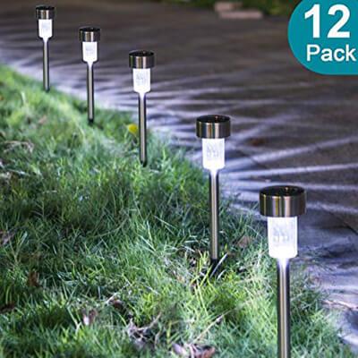 Sunnest Solar Garden Lights Outdoor, Stainless Steel Landscape Lamps