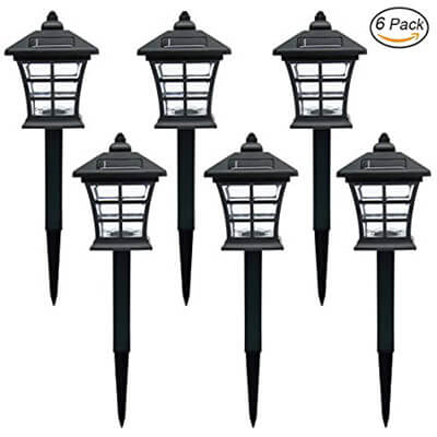 Twinkle Star Solar Pathway Lights, Outdoor Solar Garden Lights Solar - 6 Pack
